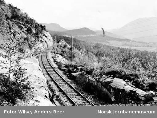 Sørlandsbanen mellom Øysteinstul og Hjuksebø
