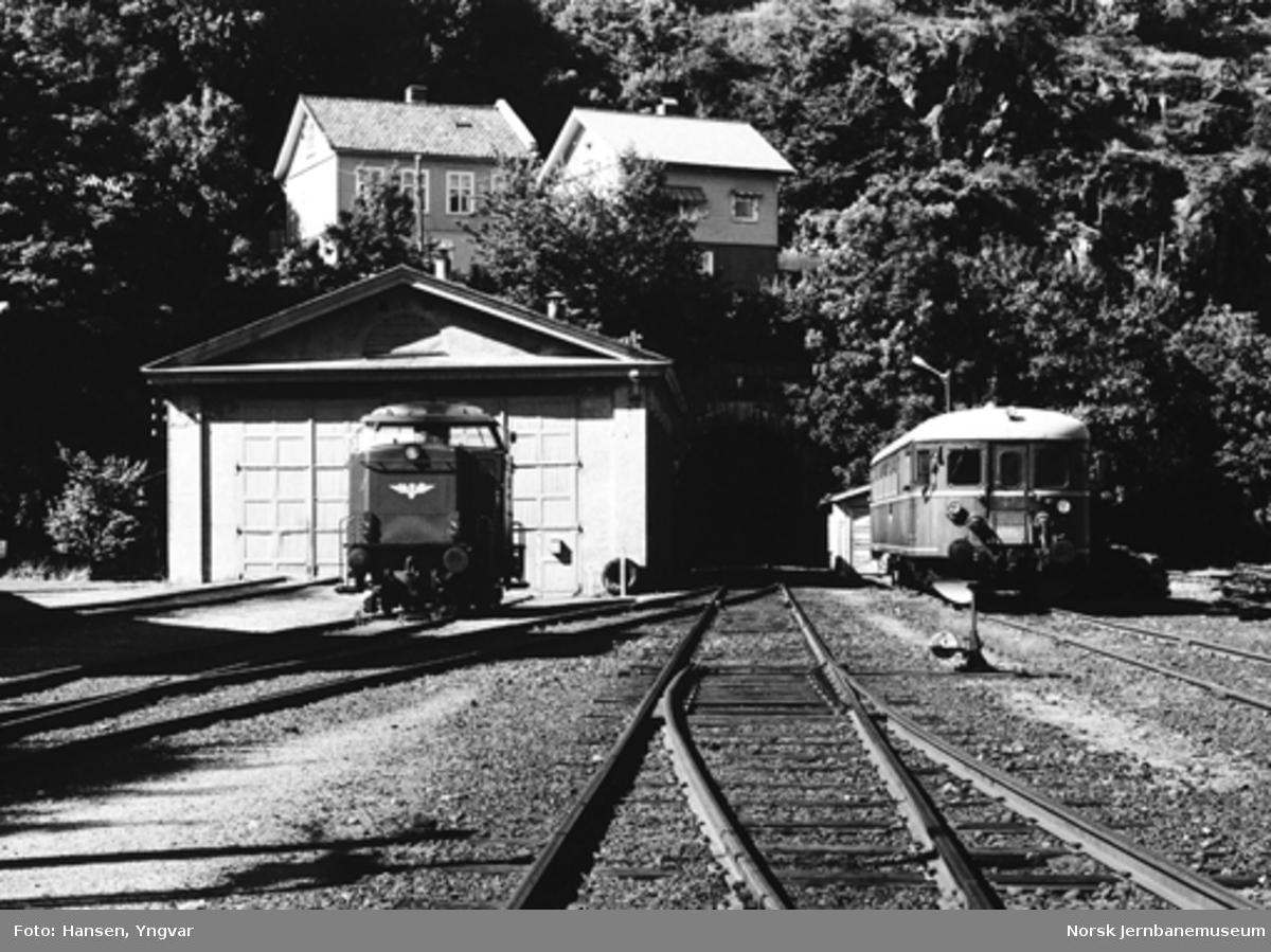 Lokomotivstallen på Kragerø stasjon