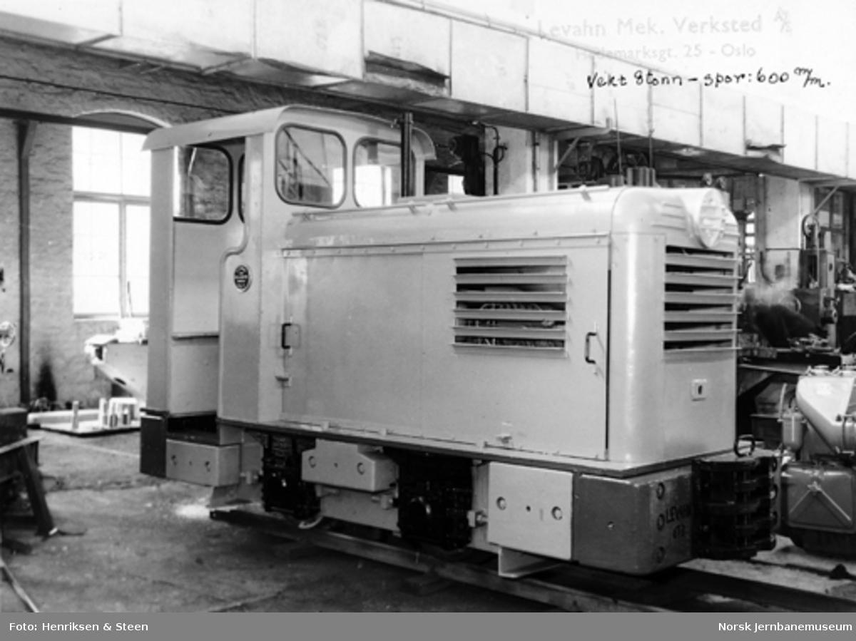 Levahn 8 tonns diesellokomotiv, 600 mm sporvidde, ferdig til levering