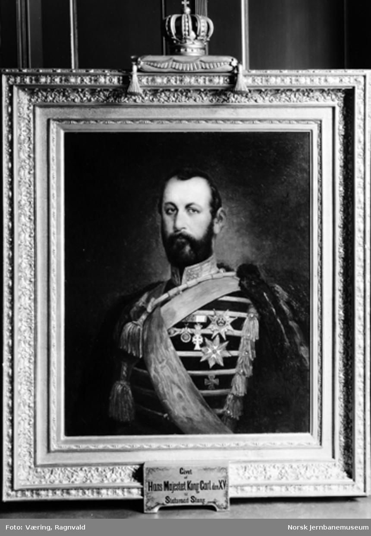 Maleri av Kong Carl XV - gitt til statsråd Stang