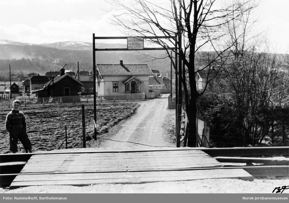 Planovergang ved Lysaker stasjon