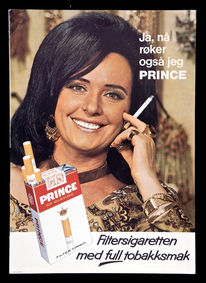 Reklame for Prince tobakk.