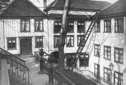 Nicolay Knutzons hus på Kirkelandet. Huset var oppført over