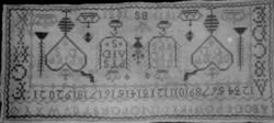 Navneduk merket 1819 BS 1831. Sør-Fron, Sør-Gudbrandsdal, Op