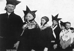 Samisk brudefølge i Karasjok.