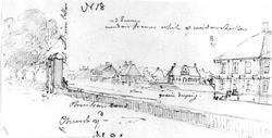 """KristiansandFra skissealbum av John W. Edy, """"Drawings Norwa"""