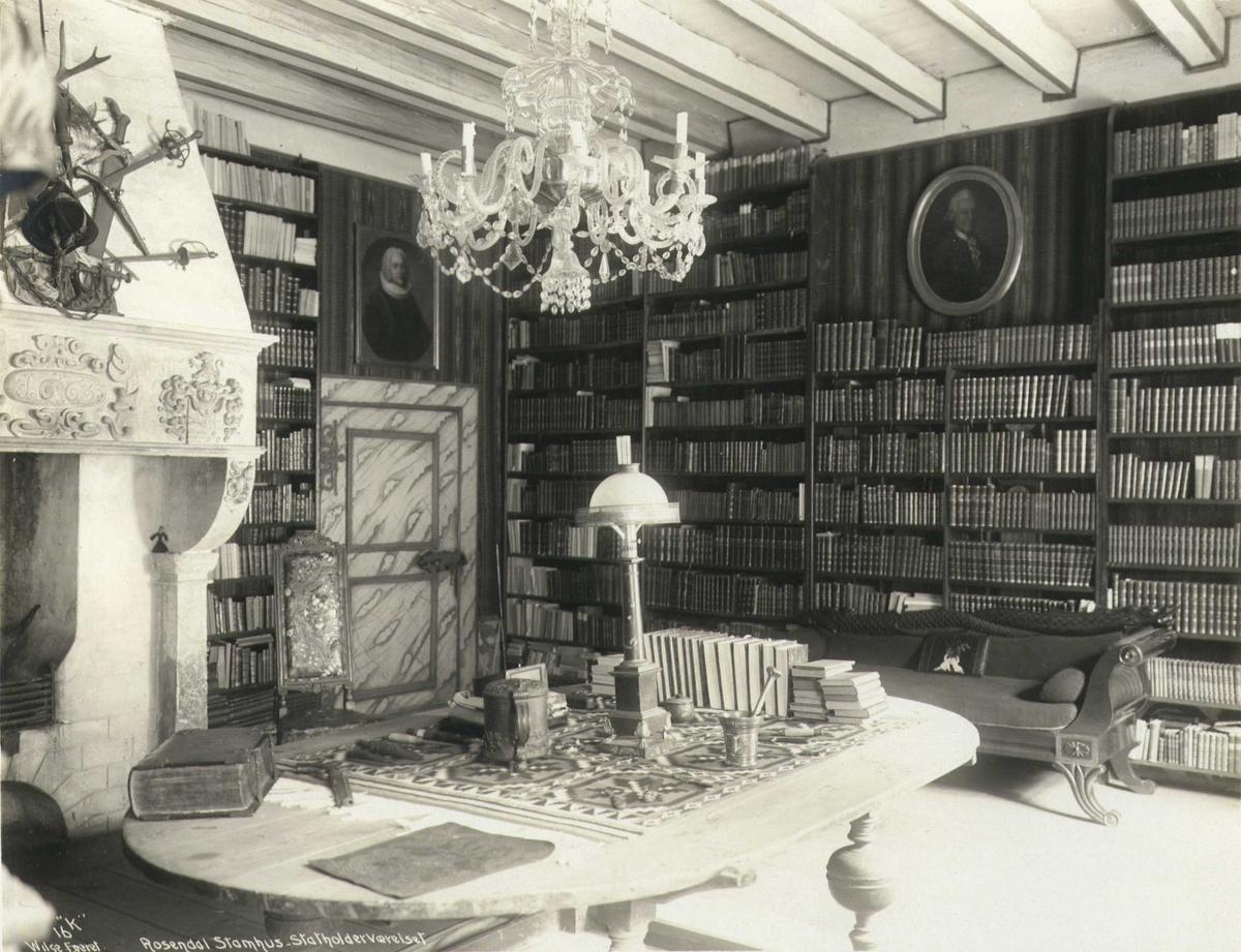 Statholderværelset,  Baroniet Rosendal, Kvinnherad, Hordaland. Fotografert 1912.