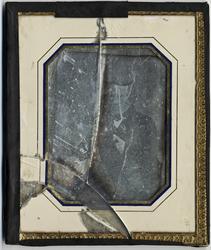 Dagerrotyp / daguerreotyp utförd av J W Bergström, porträtt