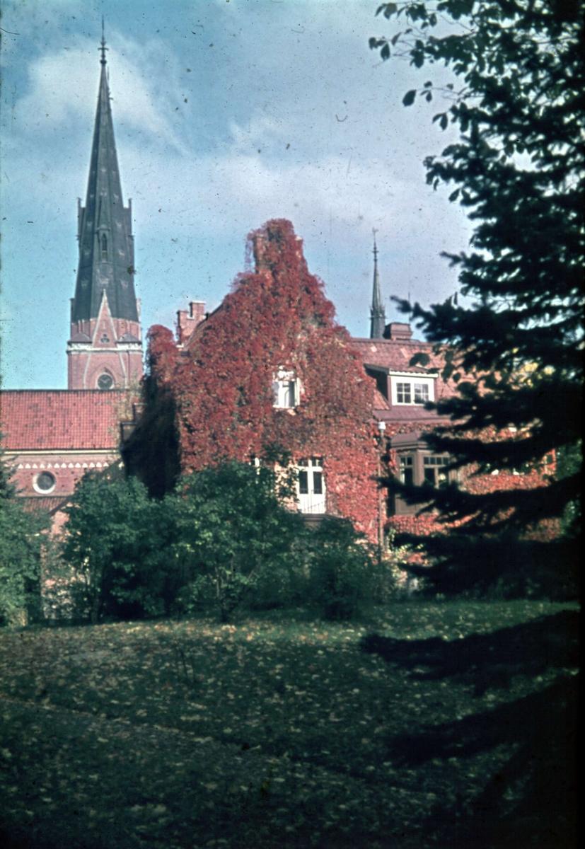 Helga Trefadlighets kyrkas prästgård, kvarteret Oden, Uppsala 1945 - 1950