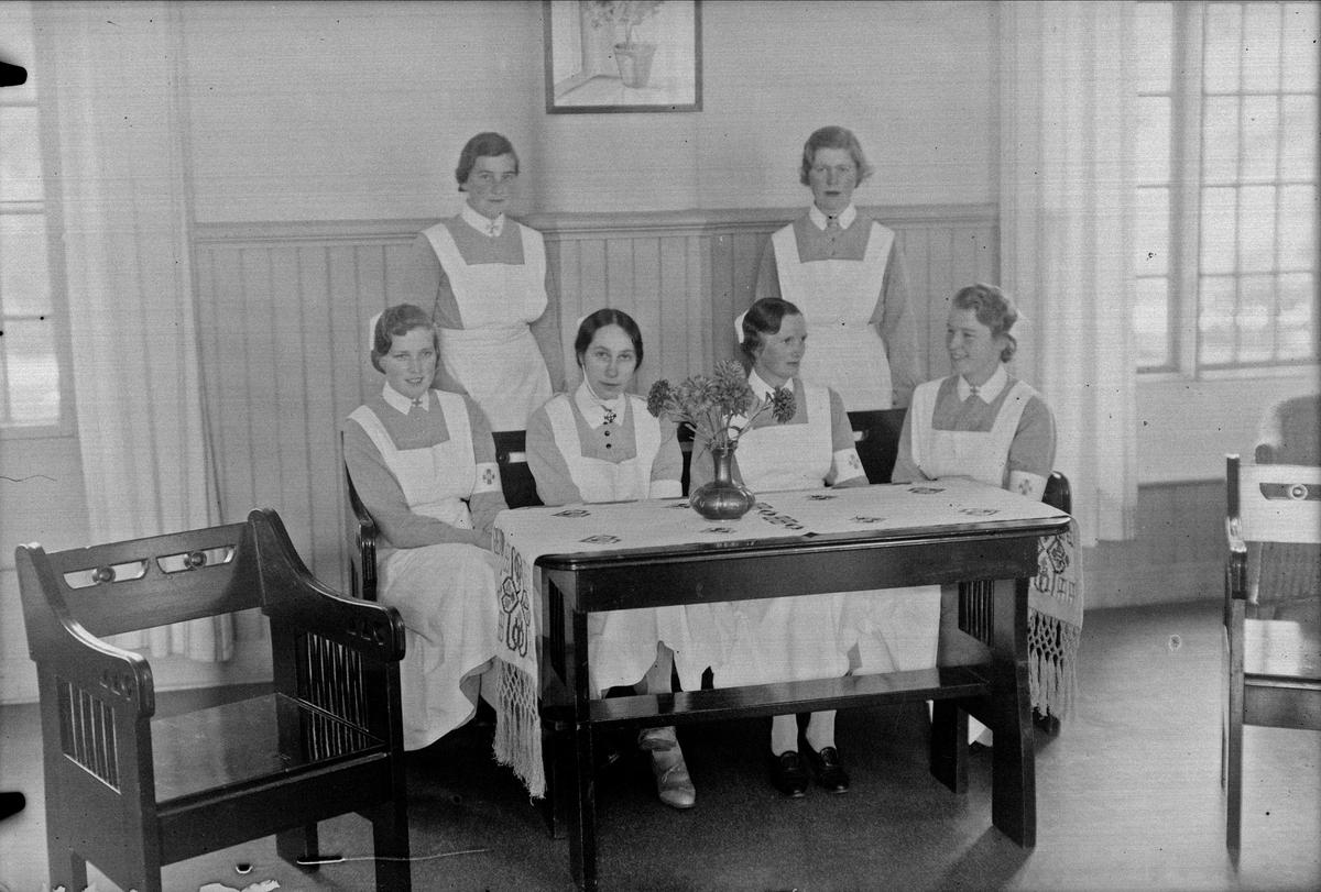 Sjukvårdspersonal på Ulleråkers sjukhus, Kronåsen, Uppsala