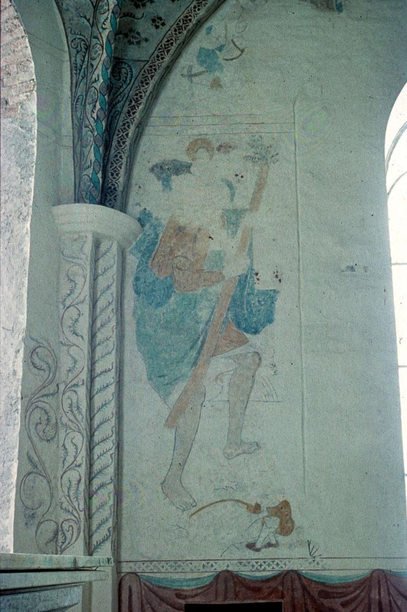 Kalkmålning i Danmarks kyrka, Uppland 1958