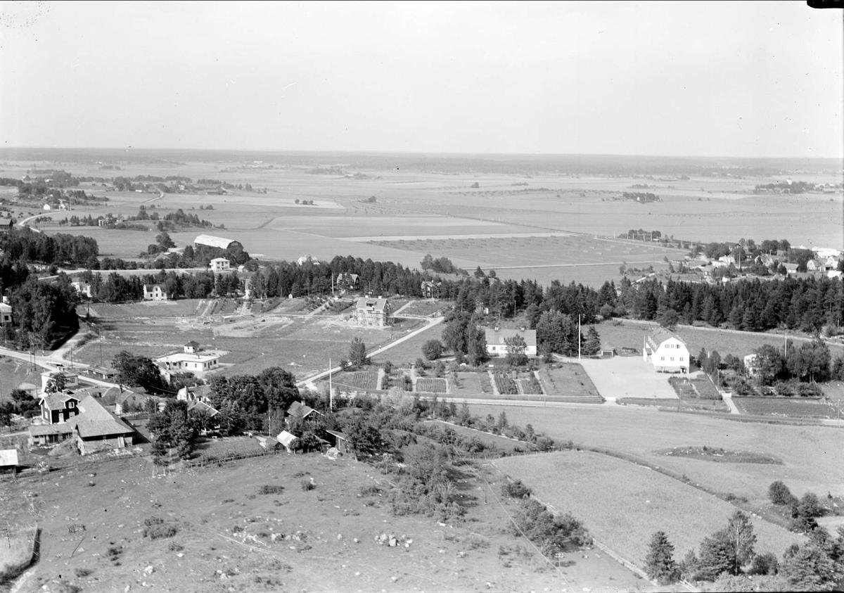 Flygfoto över Märsta, Husby-Ärlinghundra socken, Uppland 1938