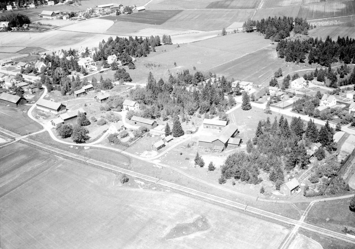 Flygfoto över Vittinge, Vittinge socken, Uppland 1959