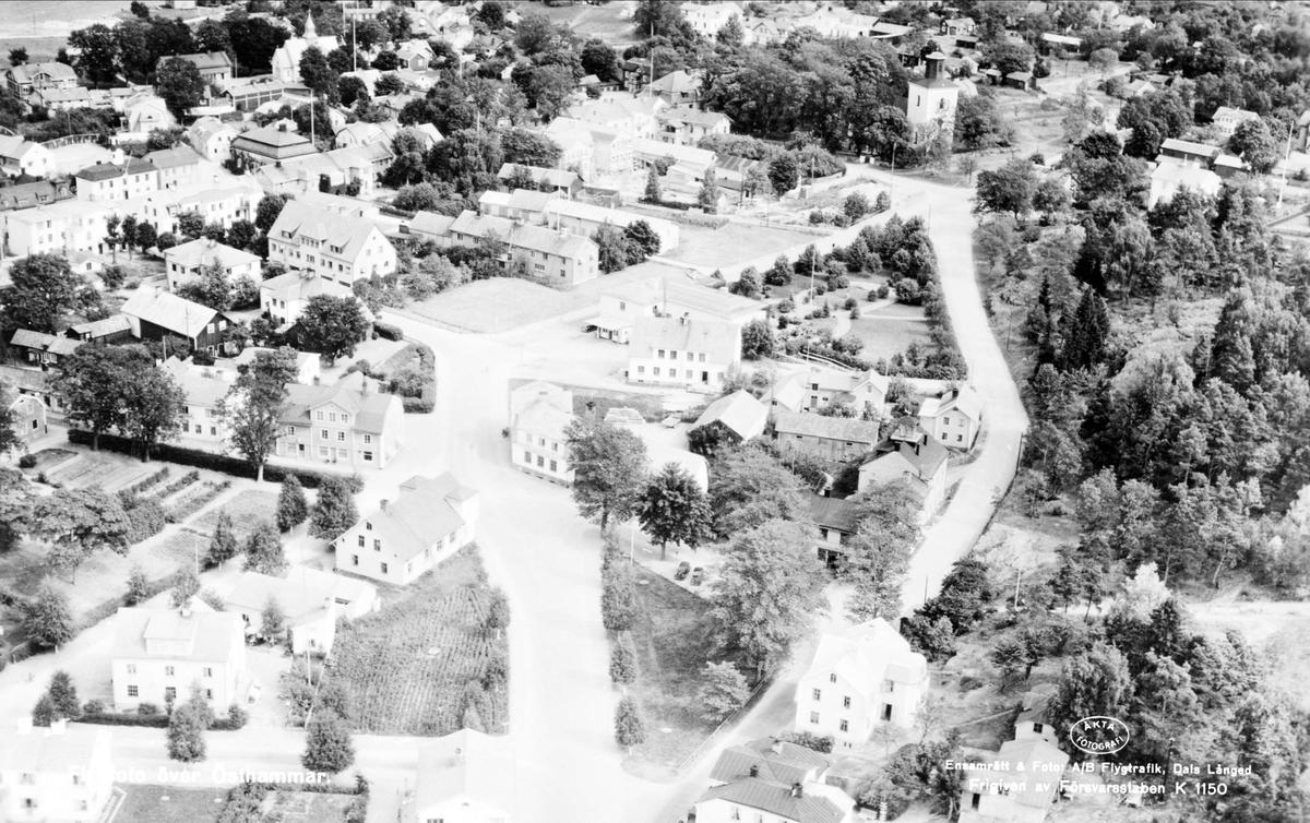 Flygfoto över Östhammar, Uppland 1947