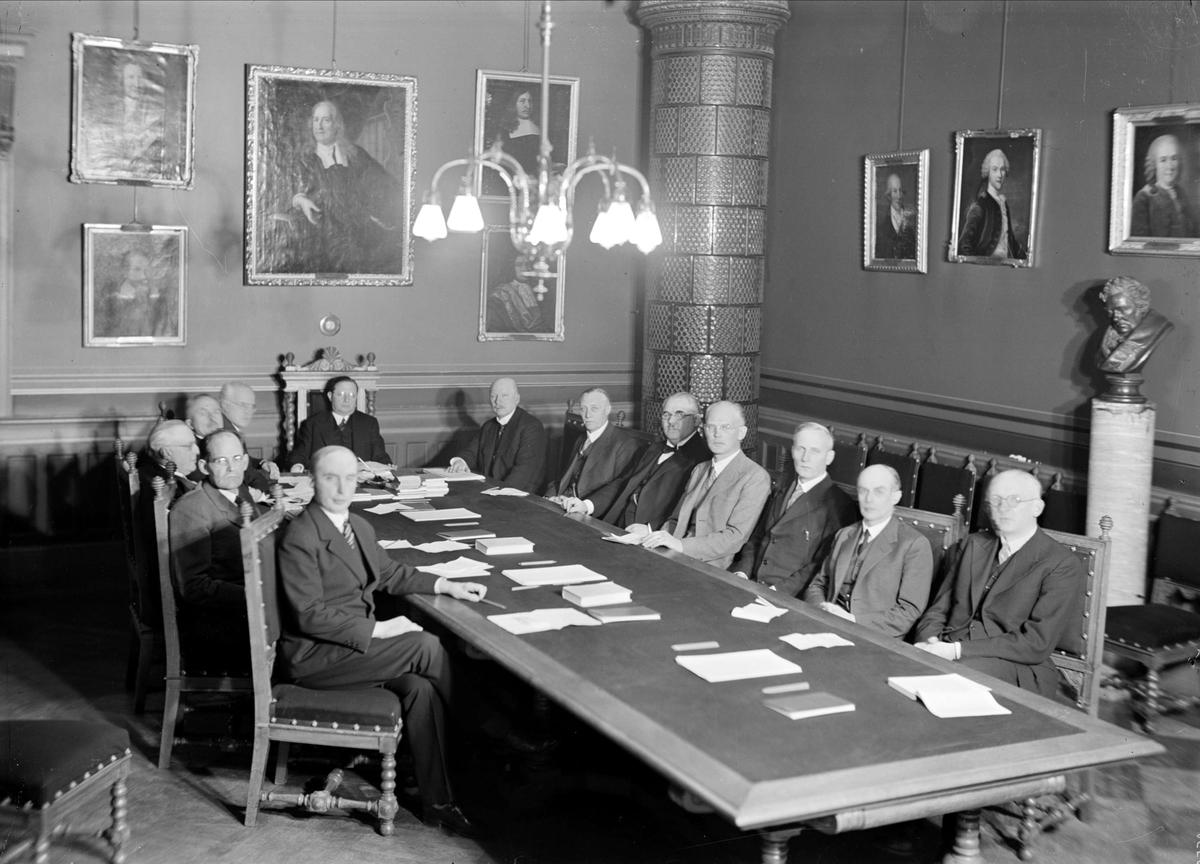 Sammanträde, Medicinska fakulteten, Uppsala universitet, Uppsala 1935
