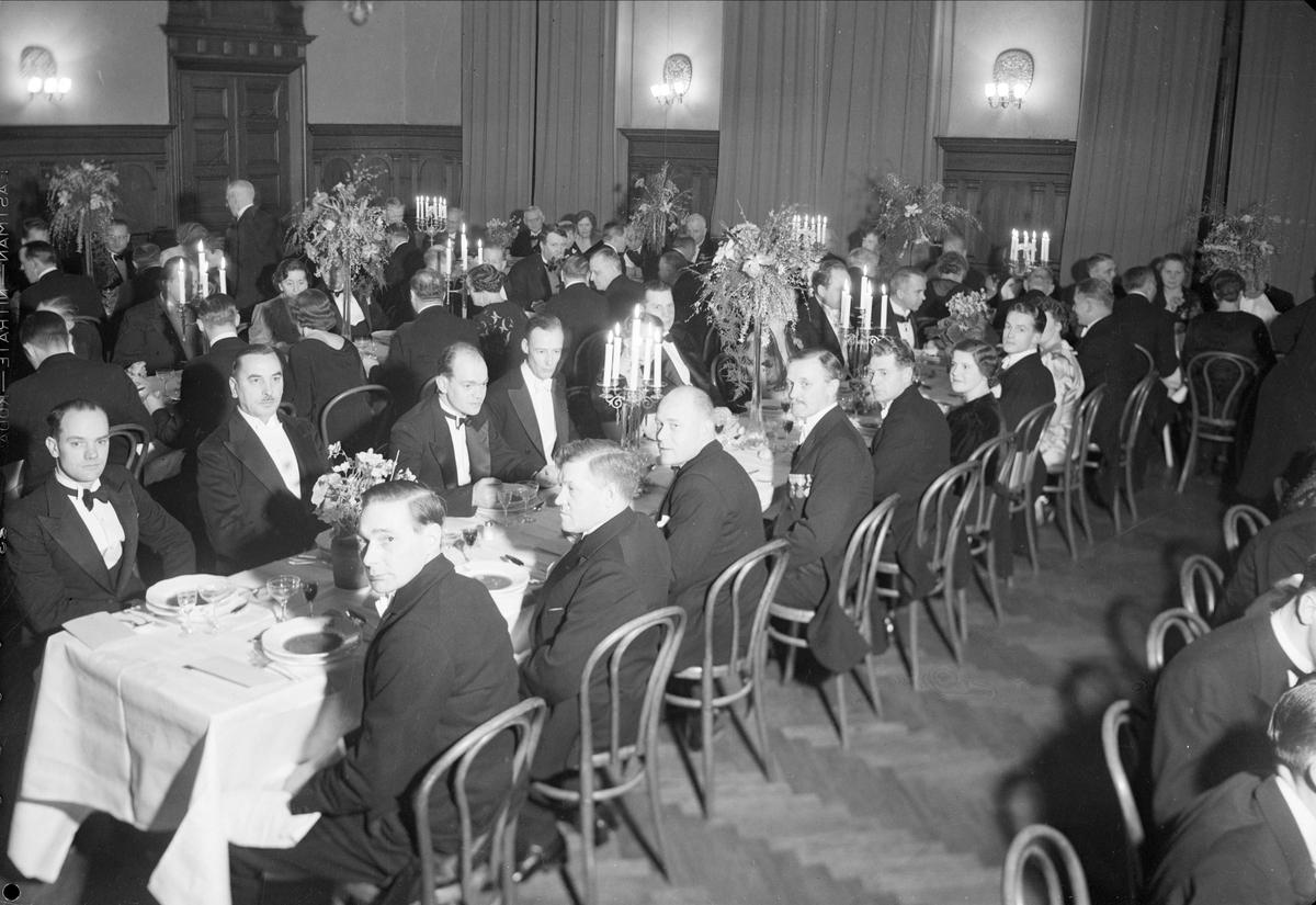 Almqvist & Wiksell Tryckeri AB firar 100-årsjubileum med middag på Norrlands nation, Uppsala 1939
