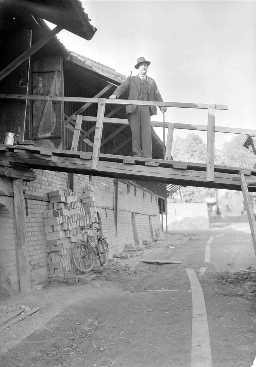 Vaksala Tegelbruk, kvarteret Håkan, Torkelsgatan, Fålhagen, Uppsala september 1947