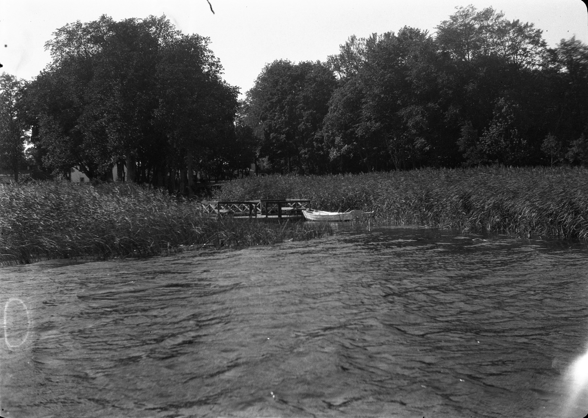Långsjöns strand vid Sätuna gård, Björklinge socken, Uppland 1930