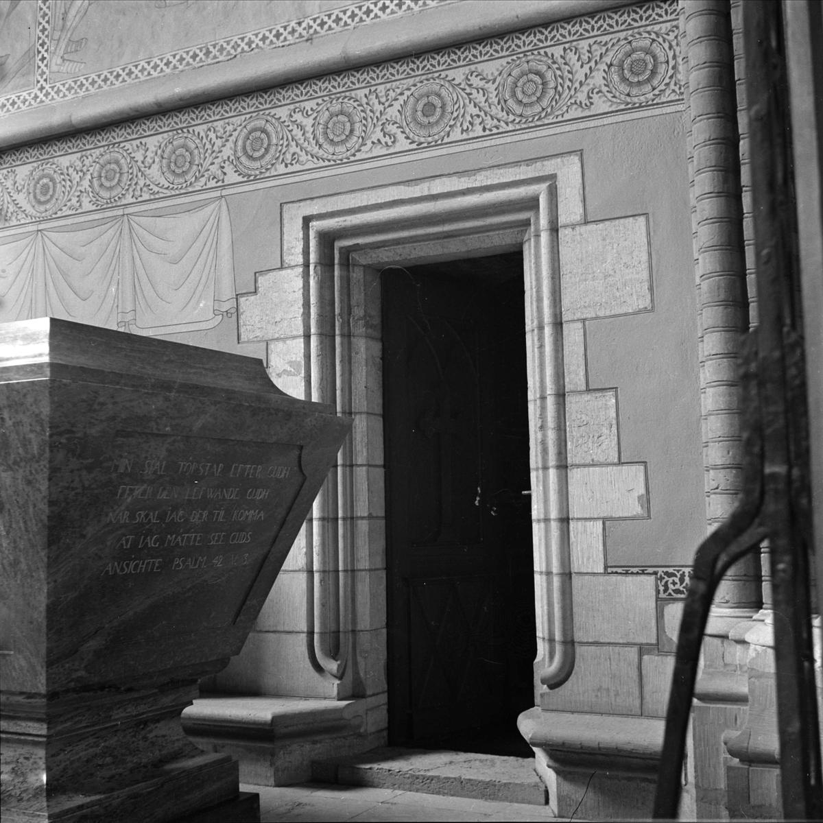 Interiör i Helga Trefaldighets kyrka, kvarteret Oden, Uppsala