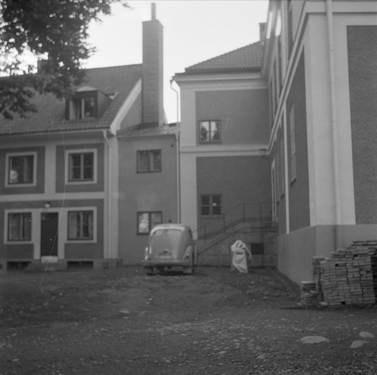Innergården bakom Upplands nation och studenbostadshus i kvarteret Rudan, Fjärdingen, Uppsala