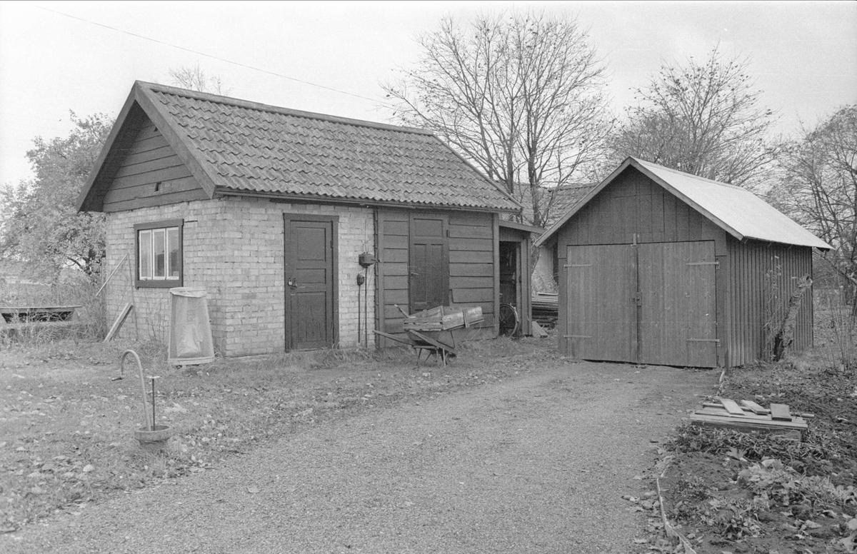 Bod och garage, Vilan, Gamla Uppsala 79:19, Gamla Uppsala socken, Uppland 1978