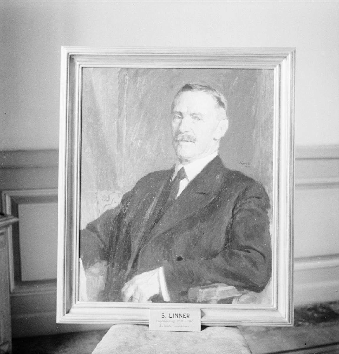 Oljemålning - porträtt av landshövding Sigfrid Linnér, Uppsala