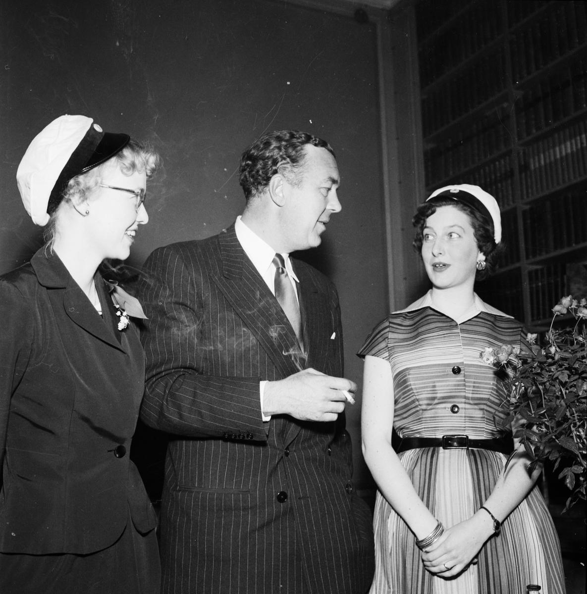 """""""Prins Bertil på Uppsalabesök"""" - Göteborgs nation, Uppsala maj 1955"""