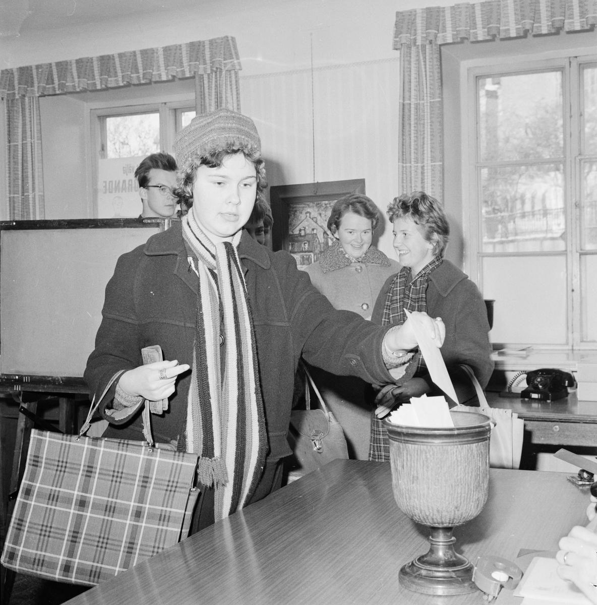 Studentkåren - ordförandeval, Uppsala juni 1959