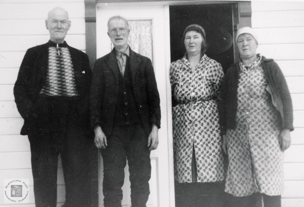 Portrett av søsknene Høyland. Audnedal.