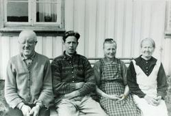 Familiebilde Høyland Tjomeland. Grindheim Audnedal.