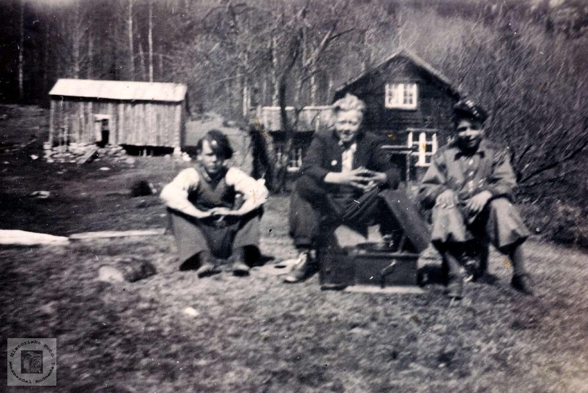 Tre kammerater fra Grindheim. Audnedal.