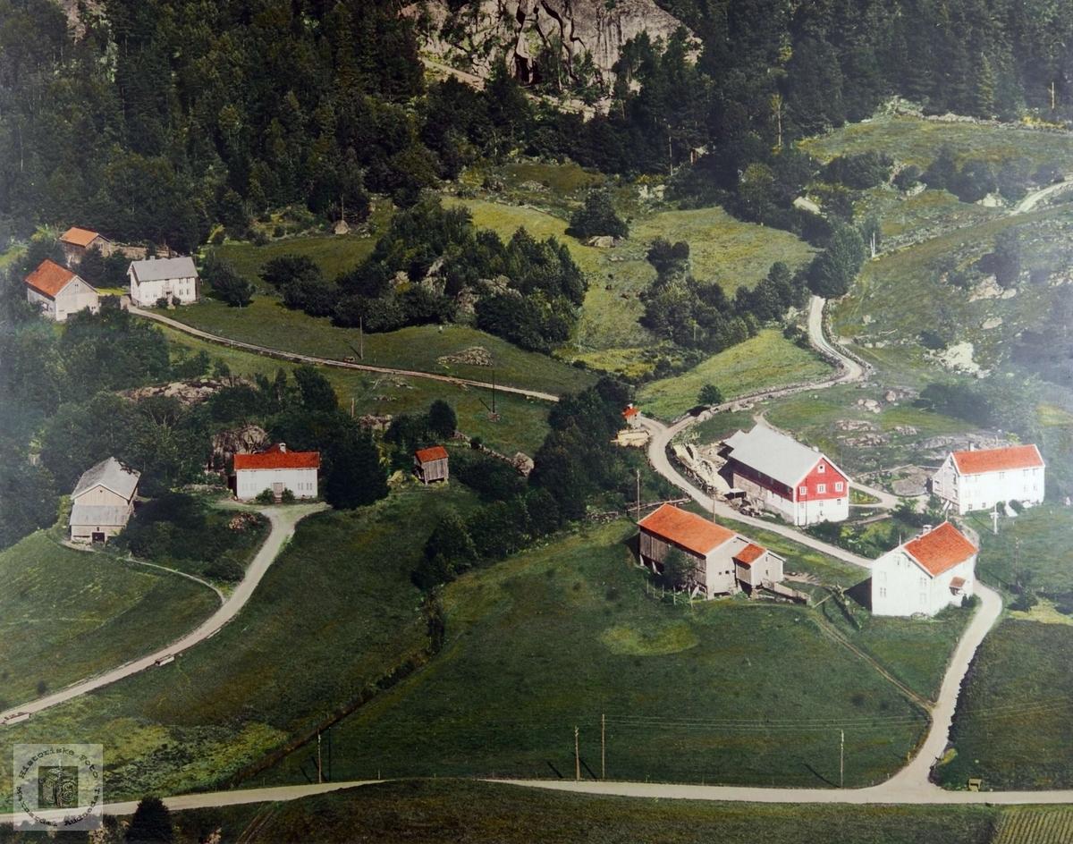 Flyfoto over Valand. Audnedal.