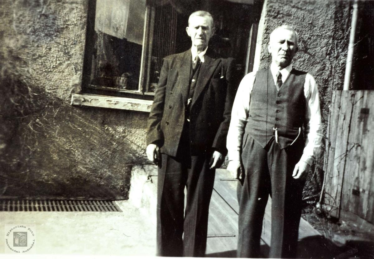 Portrett av brødrene Jørgen og Bendik Iveland. Konsmo Audnedal.