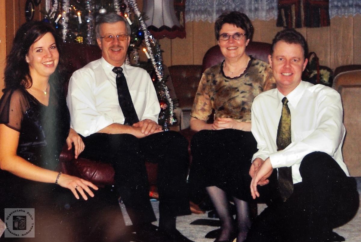 Familiebilde Av Fam Hårtveit Audnedal Historiske Foto