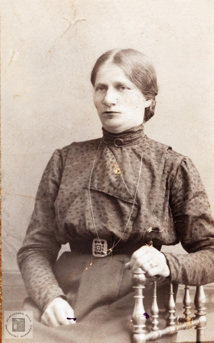 Portrett av Randi Ødegård. Bjelland Audnedal.