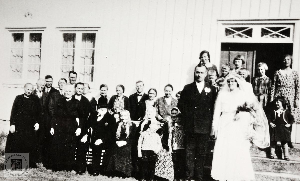 Bryllupet til Maria Å Fiddan og Olav Å. Viblemo. Konsmo.