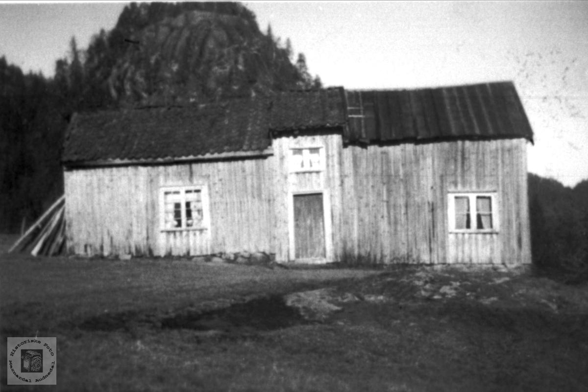 Bergan - gammel husmannsplass i Bjelland.