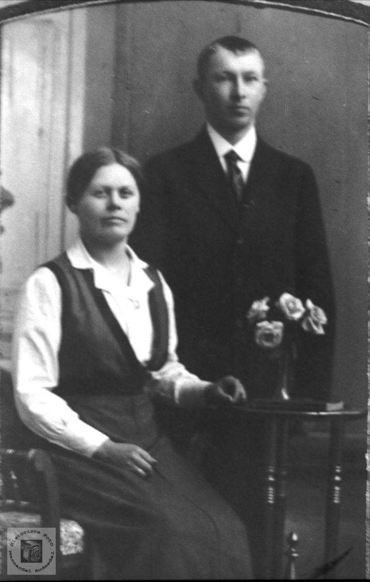 Portrett ekteparet Guri og Karl Salvesen.