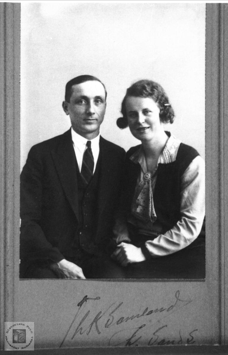 Portrett av ekteparet Nils og Dagny Tveit.