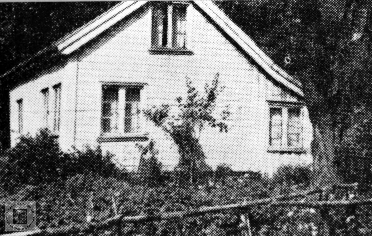 """Einebustad Hagen. Haugedal i Finsland senere Marnardal. Det rette navnet er  """"Haien"""".  Her bodde Tarjer Haugedal, mor til Jørgen Haugedal"""