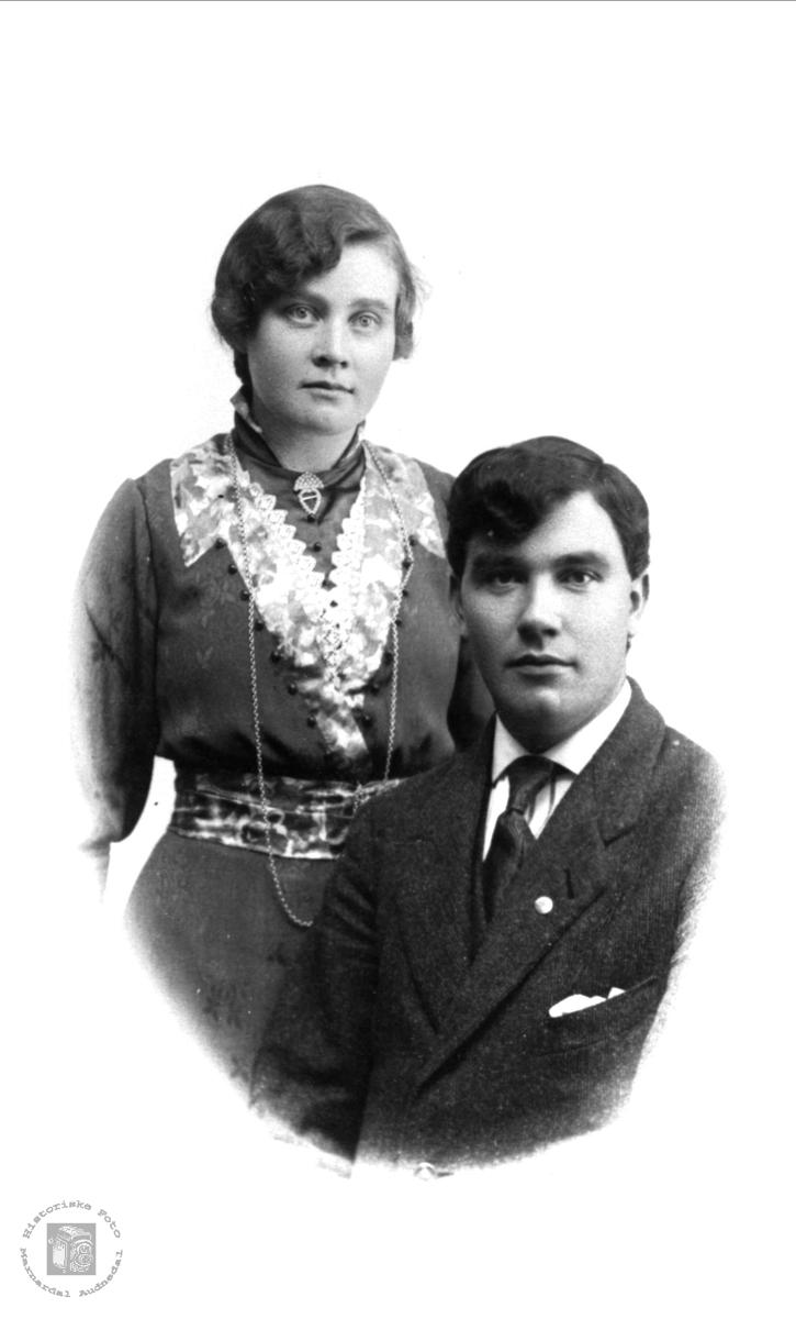 Portrett av ekteparet Sigrid og Odin Bøe.