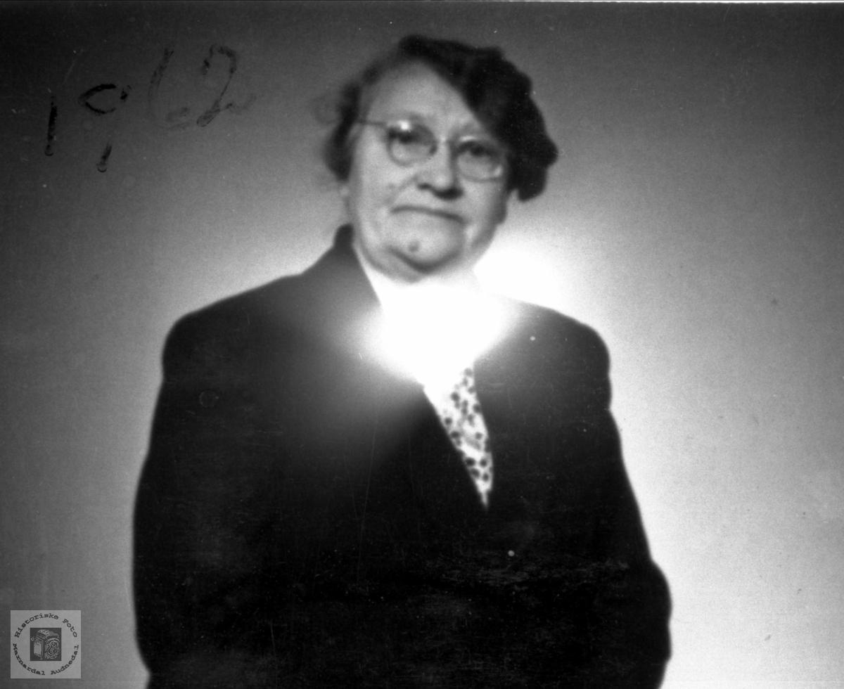 Portrett av Jenny Johansen som bodde på Støodden og Høye, Øyslebø.