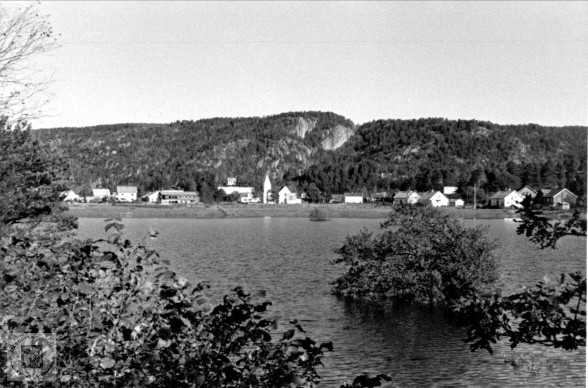 Flom på Øyslebø oktober 1967.