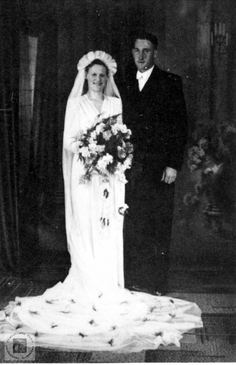 Brudeparet Mary og Karstein Aasen, Øyslebø.
