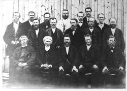 Øyslebø og Laudal Herredstyre 1881.