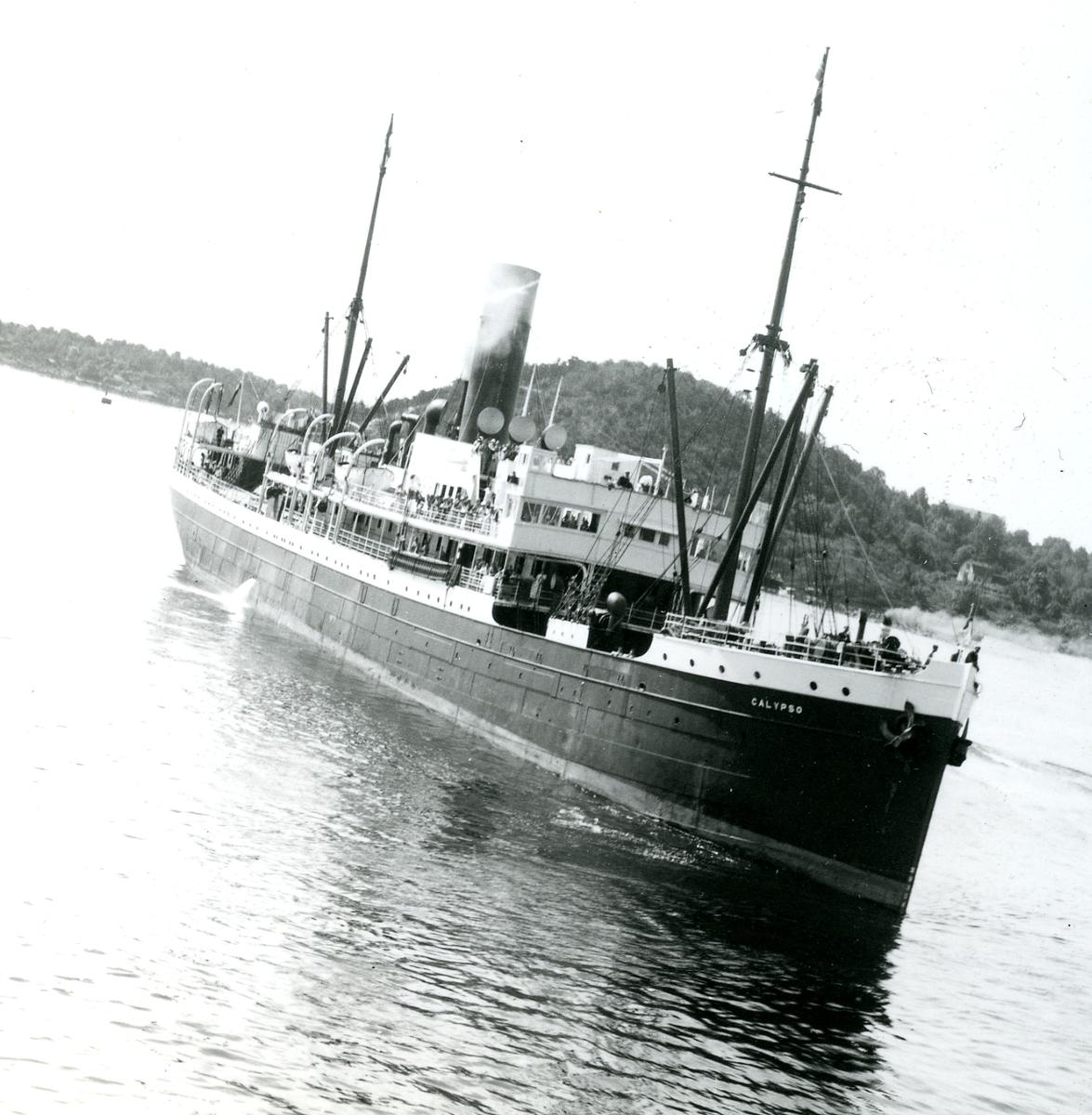 D/S Calypso (Ex. Alexandra Woermann, Bruxellesville)(b.1898, Sir Raylton Dixon & Co. Ltd., Middlesbrough)