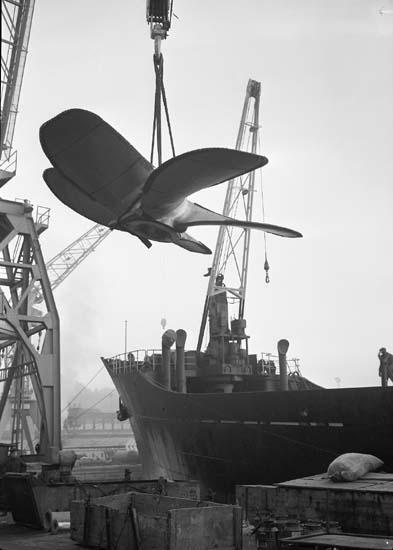 Lossning av propeller.