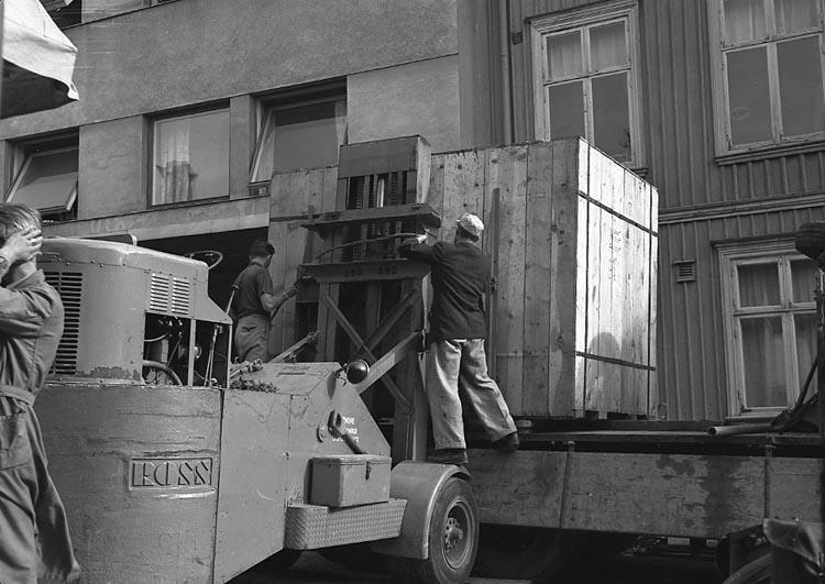 """Enligt notering: """"Skärmaskin B-H 18/7 1947""""."""