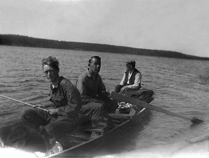 Fiske på Vänern 1926.