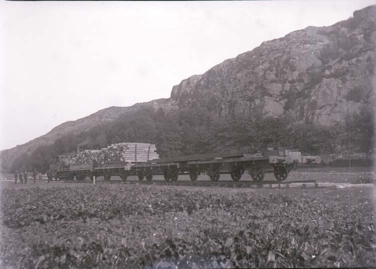"""Enligt text som medföljde bilden: """"Jernvägsvagnar + Lok vid Fjälla sept/okt 12."""""""